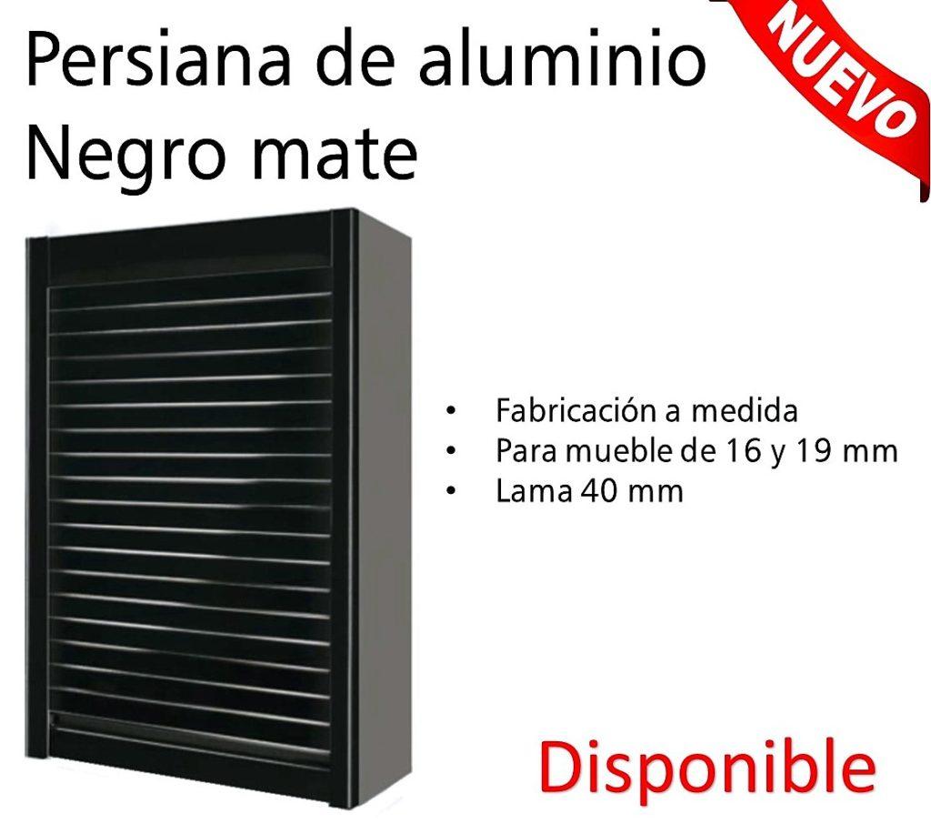 persiana aluminio negro mate